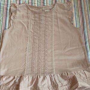 Girls peach cotton blouse
